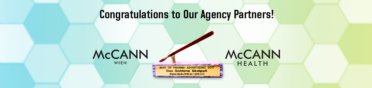 Congratulations to our agency partners. McCann Wienn and McCann Health London