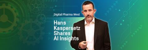 "Hans Kaspersetz adjacent to copy ""Hans Kaspersetz shares AI insights at Digital Pharma West"