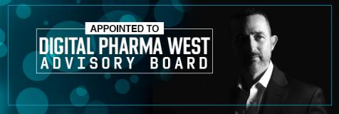 "ans Kaspersetz next to banner that states ""Appointed to Digital Pharma West Advisory Board"""