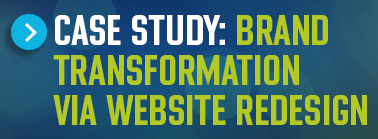 Button titled Case study: Brand transformation via website redesign